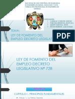 LEY DE FOMENTO DEL EMPLEO