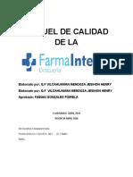 MANUEL DE CALIDAD  farmaintegra