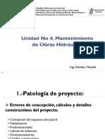 Unidad No 4. Mantenimiento de Obras Hidraulicas