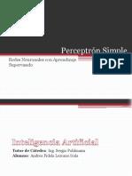 perceptrnsimpleredesneuronalesconaprendizajesupervisado-140319085024-phpapp01