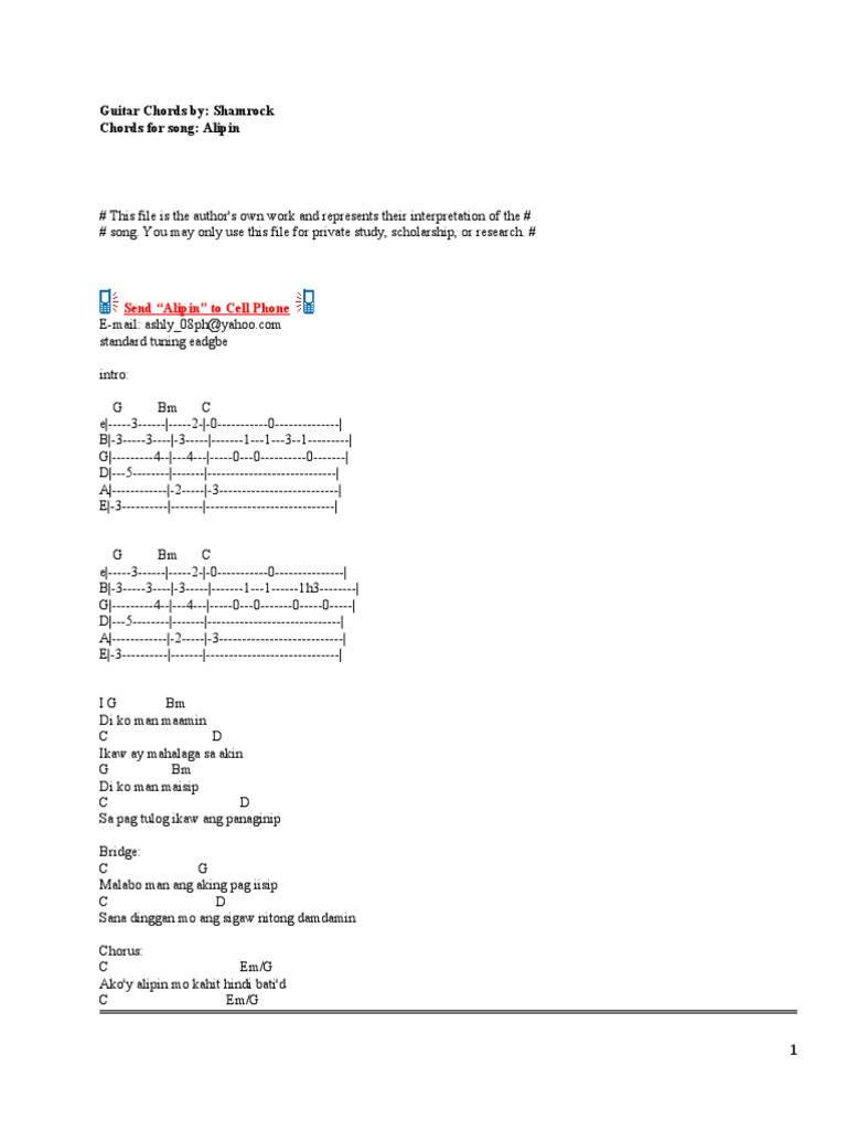 Guitar Chords Shamrock Musical Forms Song Structure