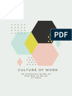 CULTURE OF WORK