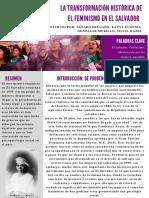 La transformación historica del feminismo en El Salvador