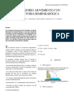 LABORATORIO trayectoria semiparabolica