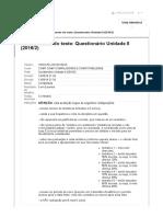 Questionário Unidade II - compiladores -