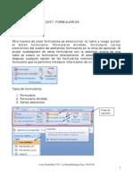Microsoft Acces 2007 Formularios
