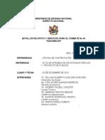 ACTA APROBACI‡N ESTUDIOS PREVIOS Y PROYECTO PLIEGOS SA-016