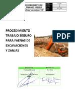 PTS 004 - PARA FAENAS DE EXCAVACIÓN Y ZANJAS
