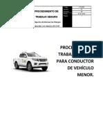 PTS 003 - PARA CONDUCTOR DE VEHICULO MENOR