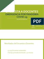 Resultados Encuesta a Docentes por Emergencia CODIV-19