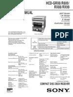 Sony Hcd-grx8 r800 Rx88 Rx99 Sch