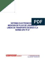 SISTEMAS ELECTRONICOS DE MEDICION DE FLUJO DE LIQUIDOS EN LINEAS DE TRANSPORTE EN BASE A LA NORMA GPA TP-27