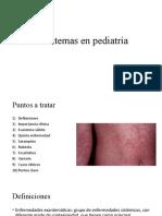Exantemas en pediatría