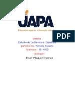 estudio de la literatura española tarea