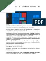 Cómo activar el Escritorio Remoto de Windows 10 2