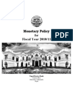 Monetary Policy (in English) 2010 11 Report NEW