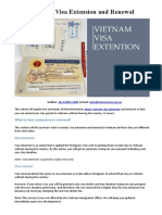 Vietnam Visa Extension and Renewal | Updates  2020