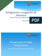 preservacion a baja temperatura