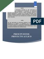 Proyecto aulico Presupuesto