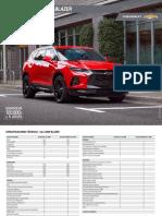 Ficha Tecnica Chevrolet Blazer 2020 Chile