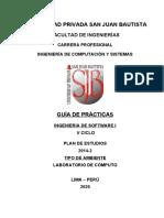 GUIA DE PRACTICA INGENIERIA DE SOFTWARE I