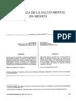 1988 SEMBLANZA DE LA SALUD MENTAL en Mexico