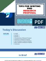 Tips for Writing PhD Research Proposal-TutorsIndia