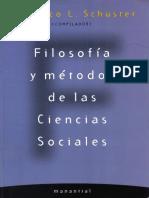 Schuster, Federico - Filosofía y Métodos de Las Ciencias Sociales - Cap. 1 y 6