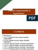 Funcţii exponenţiale şi logaritmice