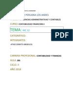 NORMAS INTERNACIONALES DE LA CONTABILIDAD 12
