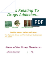 Laws Relating to Drugs Addiction Project