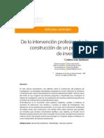 U1 Bettanin - De la intervención profesional a la construcción de un problema de investigación