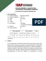 SILABO DE GESTION DE CUENCAS HIDROGRAFICAS