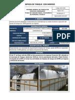INCC-F009 Informe limpieza de Tanques SH TK 2