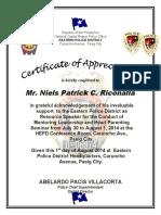 Certificate of Appreciationextra2