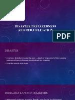 Disaster Preparedness and Rehabilitation