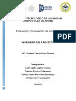FORMULACION Y EVALUACION DE PROYECTOS....