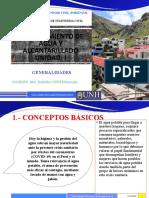 CLASES DE ABASTECIMIENTO DE AGUA Y ALCANTARILLADO 1RA CLASE