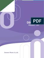 Daewon_Pharm_Product_List