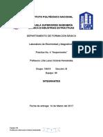 Práctica No. 4 Electricidad y magnetismo.
