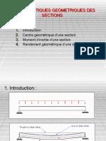CHAPITRE 3 CARACTERISTIQUES GEOMETRIQUES DES SECTIONS-1