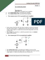 ANALOG CIRCUITS 18EC42 [Module -2]