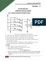 ANALOG CIRCUITS 18EC42 [Module -5]