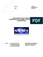 Evaluation of Self-Applied Tourniquets for Combat Applications, Second Phase[1]