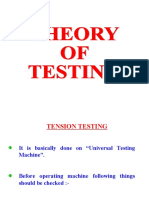 Theory of Testing