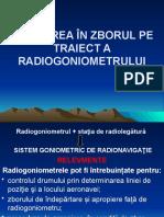 15.Folosirea radiogoniometrului