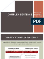 NZ4 Complex Sentences