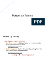 Bottom-up Parsing - Intro