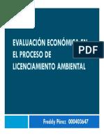 Evaluación económica en el proceso de licenciamiento ambiental Colombia
