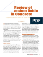 A Review of Magesium Oxide in Concrete
